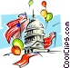 Washington celebrates Vector Clipart illustration