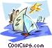 sail boats Vector Clipart illustration