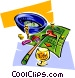 roulette two Vector Clipart image