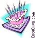 Birthday cake - abstract Vector Clipart image