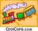 train - abstract Vector Clipart graphic