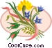 Wildflower bouquet Vector Clip Art graphic