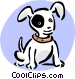 puppy with black eye Vector Clip Art image