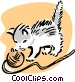 kitten and yarn Vector Clipart illustration