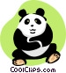 panda Vector Clipart illustration