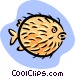 puffer fish Vector Clipart graphic