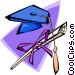 mortar board and degree Vector Clip Art image