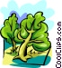 Trees scene Vector Clipart image