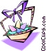 Easter basket - abstract Vector Clipart graphic