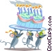 Birthday mice Vector Clip Art image