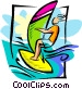 windsurfer Vector Clipart image