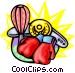 Boxing equipment Vector Clip Art graphic