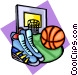 Basketball equipment Vector Clipart graphic