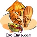 Native African symbols two Vector Clipart picture