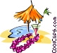 tropical vacation symbol Vector Clipart image