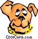 dog face Vector Clipart image