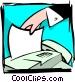 sending fax Vector Clipart image