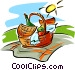 picnic hamper Vector Clip Art picture
