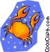 symbolic zodiac sign Vector Clipart graphic