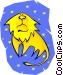 symbolic zodiac sign Vector Clipart image