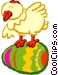 Easter chick Vector Clipart graphic