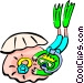scuba diving Vector Clipart graphic