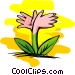 flower hands Vector Clipart picture