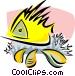 aquatic design Vector Clipart image
