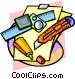desktop tools Vector Clip Art picture