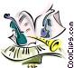 musical motif Vector Clip Art image