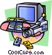 Video and stereo equipment Vector Clip Art graphic