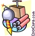 Explosives and TNT Vector Clipart illustration