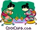 Japanese women Vector Clip Art image