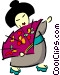 Japanese women Vector Clip Art picture