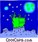 Aliens looking at earth Vector Clip Art picture