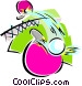 table tennis Vector Clip Art graphic