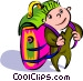 traveler with backpack Vector Clip Art image