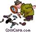 Sherlock Holmes Vector Clipart illustration
