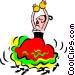 Spanish dancer Vector Clip Art image