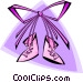 baby's first shoes girl Vector Clipart picture