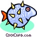 puff fish Vector Clipart illustration