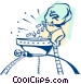 Mining for gold Vector Clipart illustration