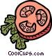 Sliced tomato Vector Clipart picture