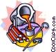 melting pot Vector Clip Art graphic