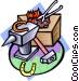 blacksmith Vector Clip Art image