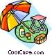 Picnic accessories Vector Clip Art graphic