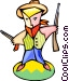 cartoon cowboy Vector Clipart image