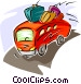tour bus Vector Clip Art graphic