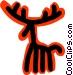 reindeer concept Vector Clipart picture