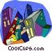 city cityscape Vector Clip Art image